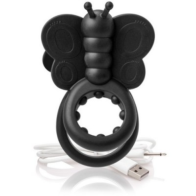 The Screaming O - Charged Monarch Wearable Butterfly Vibe Black