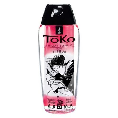 Lubrificante a base acquosa Shunga Toko Aroma fragola e champagne 165 ml