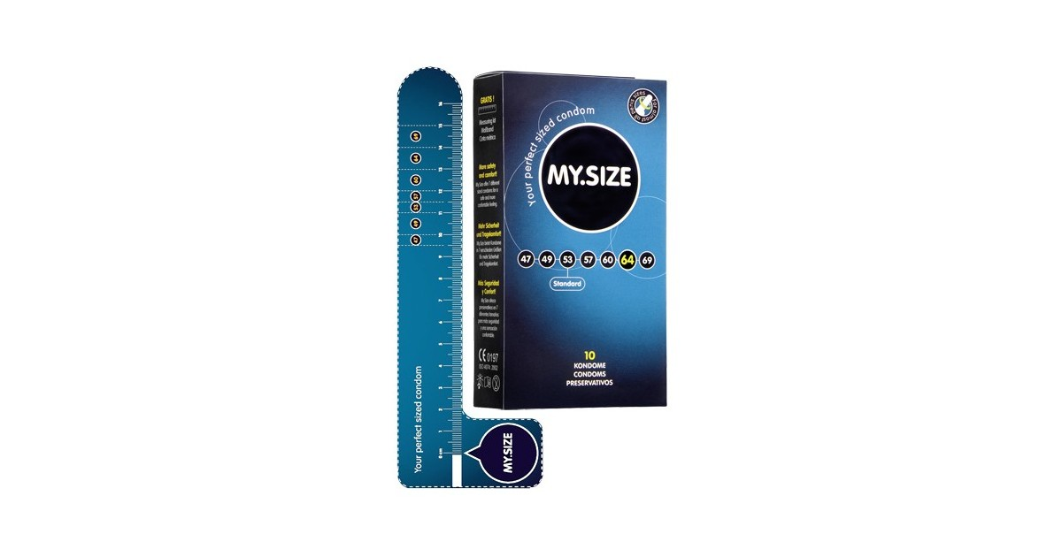MY SIZE - preservativi grandi 64 mm nominali - 10 pezzi - made in Germany