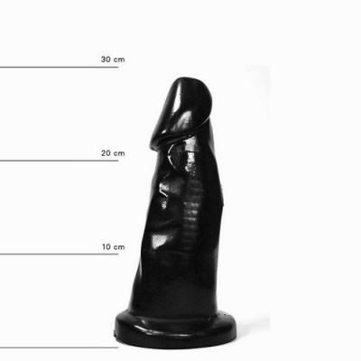 All Black - Dildo XXL in PVC 39cm x 8,5 cm nero