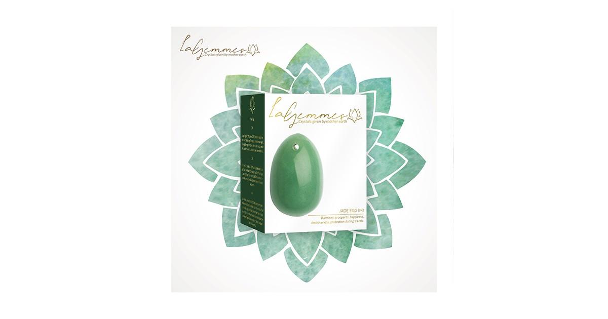 ovetto di giada Yoni Egg Jade M 4 X 3 cm
