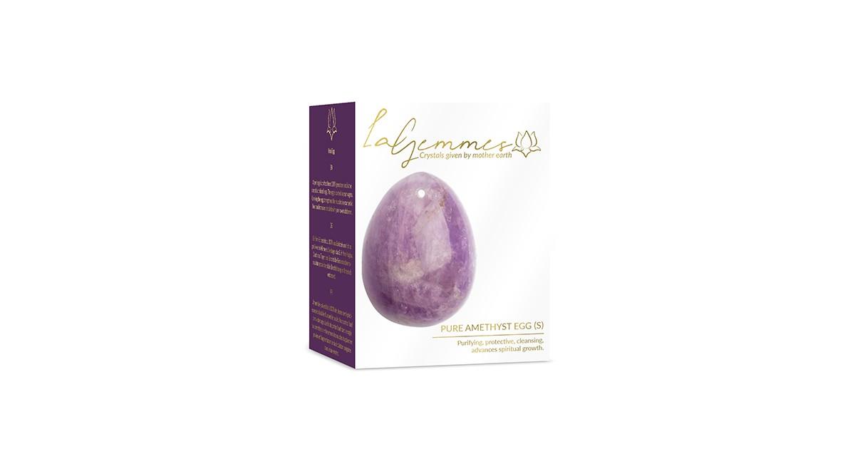 ovetto Yoni Egg Pure Amethist S 3 X 2,5 cm