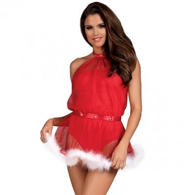 Abitino natalizio in tulle rosso Santastic