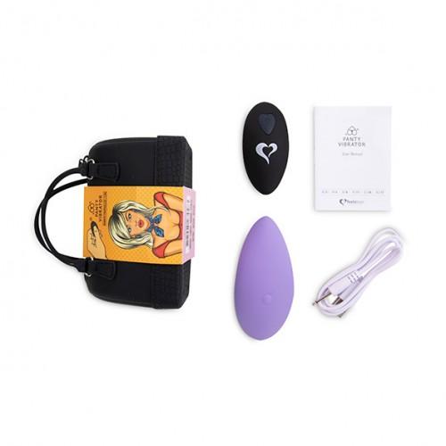 Massaggiatore da passeggio ricaricabile in silicone con telecomando wireless viola panty vibe