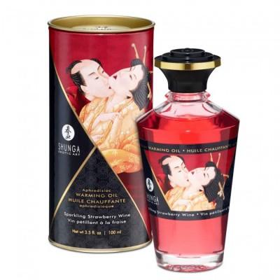 Olio massaggi commestibile Shunga Aphrodisiac Oil fragole e champagne 100 Ml