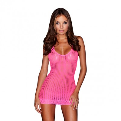 Lapdance - Lace Mini Dress Pink