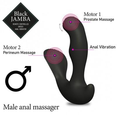 Vibratore Anale Unisex Black Jamba