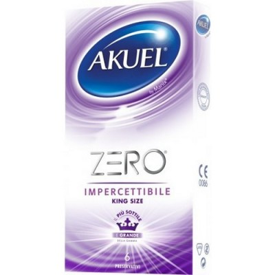 Preservativi sottili extralarge AKUEL ZERO XL 56mm 6 pezzi