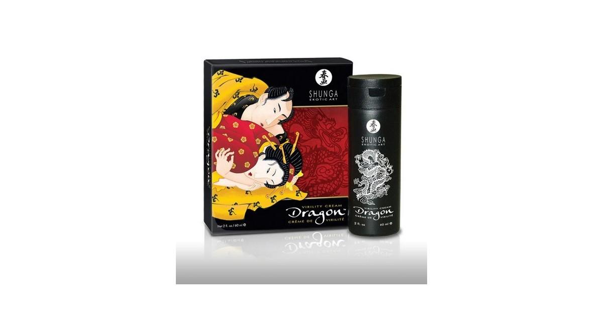 Shunga - Dragon Virility Cream ritardante e performance per lui, stimolante per lei