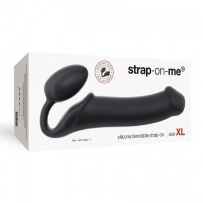 strapless strapon flessibile Strap-on me nero - XL