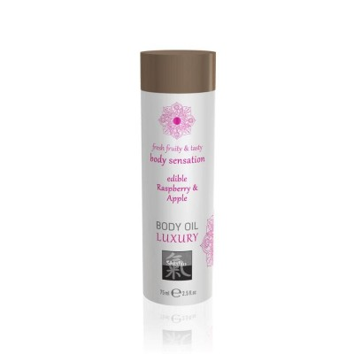 Luxury Olio Massaggi Commestibile Raspberry Apple 75 ml
