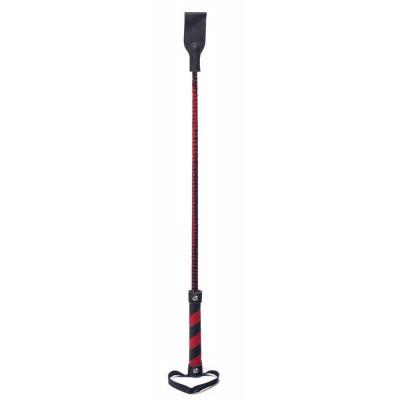 Crop Sculacciatore Nero e Rosso 66 cm