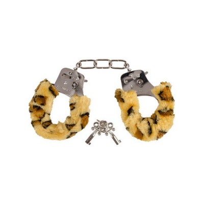 Manette con pelo leopardato Luxury Furry Handcuffs 193 grammi
