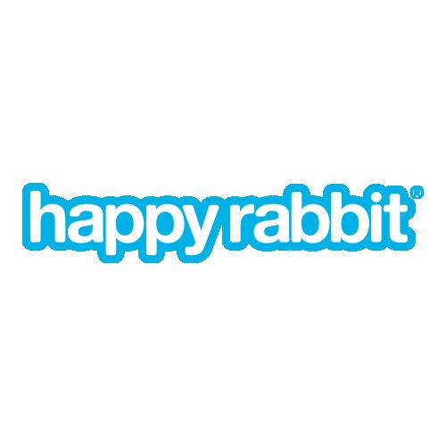 Vibratore ricaricabile rotante in silicone Happy Rabbit Beaded G-Spot 24 cm